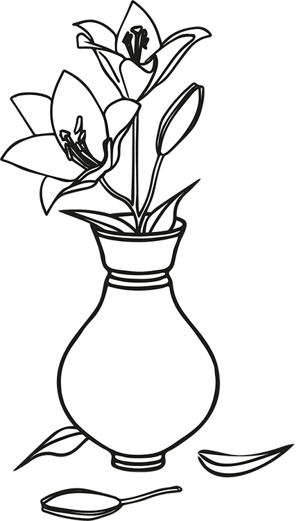 Probate - Graham Colley. Illustration of lilies.